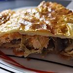 recette Feuilleté Champignons Poireaux et Saumon