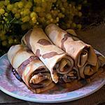recette Crêpes spirales bicolores