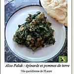 recette Aloo Palak : épinards et pommes de terre
