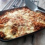 recette Gratin de coquillettes sauce bolognaise et chèvre