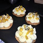 recette Tartelettes crème mousseline et mangue