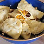 recette Ravioles Champignons et Courge Butternut