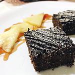 recette Fondant chocolat/mascarpone de Cyril Lignac