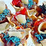 recette Amuse bouche au confit d'oignon, raifort et gingembre, sans cuisson, végétarien