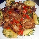 recette Coq au chablis et aux cépes