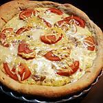 recette Quiche pâte levée au thon, tomates, mozzarella