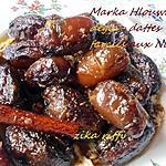 recette Tajine sucré salé de dattes farcies aux noix ( marka hlouwa b dégla )