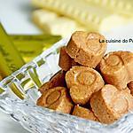 recette Praline croustillante au chocolat blanc, gavotte et confiture de lait