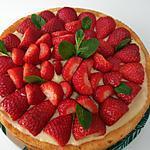 recette Tarte aux fraise fond de génoise