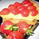 recette tarte à la fraise sur son lit d' amande