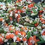 recette Poêlée riz légumes ultra rapide et très bon