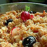 recette Taboulé de Quinoa aux poivrons et radis.