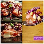 recette Ravioles maison au chèvre, choux croquant pomme-pignons