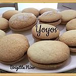 recette YOYOS à la confiture de framboise
