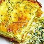 recette Quiche aux herbes fraîches sur croustillant de pommes de terre et carottes, végétarien