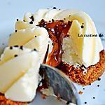 recette Mousse glacée au citron sur spéculoos et intérieur à la confiture de lait Raffolé, sans cuisson