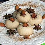 recette Les montecaos au amandes(ghribia)