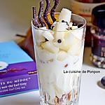 recette Verrine au yaourt, baba au limoncello et poire