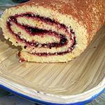 recette Gâteau roulé à la confiture de mûres