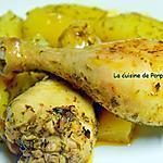 recette Pilon de poulet mariné et pommes de terre au four au poivre de Kampot