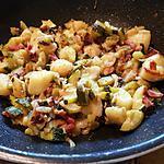 recette Ragout de pommes de terre, courgettes et lardons