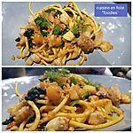 recette Pâtes anchois, fenouil, artichauts, épinards  et fèves
