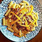 recette Bolognaise bœuf et foie de veau aux poivrons grillés ( adorée par mon fils de 4ans!..)