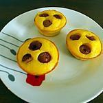 recette Petits gâteaux de semoule à la cerise et fromage blanc