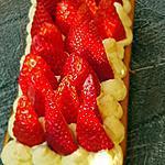 recette Gateau madeleine,  crème pistache et fraises
