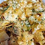 recette Gratin de pâte poulet,poivron