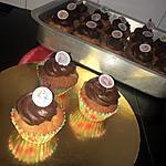 recette Cupcakes vanille et ganache au chocolat