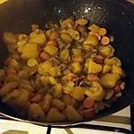recette Poêlée pommes de terre champignons knaki  brocolis