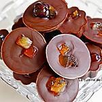 recette Pralines au chocolat, caramel coco vegan et fruits confits, vegan