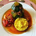 recette Courgettes rondes farçies au boeuf et épices du soleil
