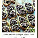 recette Palmiers bacon, fromage et noix de pécan