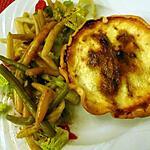 recette Tartelettes au reste de poulet rôti