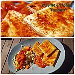 recette Crispy tofu sauce piquante  tomate-poivrons