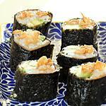 recette Makis saumon-avocat et oignons frits