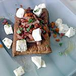 recette feuilletée à la fondue de lardons et carottes avec salade de mozzarella