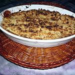 recette Crumble pommes/coulis fruits rouges