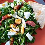 recette Salade De Mâche (rampons ,doucette) Aux  Lardons  et Oeufs  dur