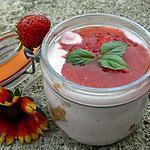 recette Mousse de fromage à la fraise et Petits Lu