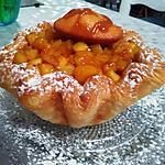 recette Charlotte feuilletée aux pommes caramélisées au beurre salé et  madeleines par Lauranou