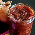 recette Confit d'oignon de Roscoff à la grenadine et à l'eau de rose