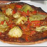 recette Pizza tandoori à la farine de chataigne