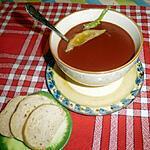 recette Mon potage rouge brique aux fanes de betterave