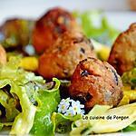 recette Polpettine de thon aux herbes et aux olives noires