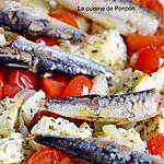 recette Tomates rôties à la feta et aux petites sardines