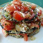 recette Mille Feuilles d'aubergine tomates (  mil-folhas de beringela)