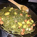 recette Haricots verts, pommes de terre, saucisses de Strasbourg au curry